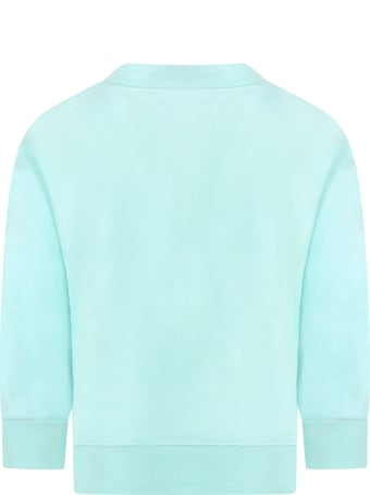 Raquette Teal Sweatshirt For Kids With Logo