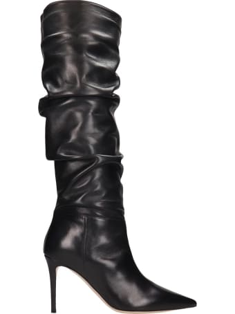 Dei Mille Boots In Black Leather