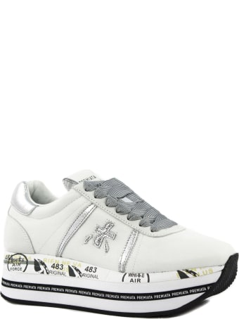 Premiata Beth Sneakers In White Leather