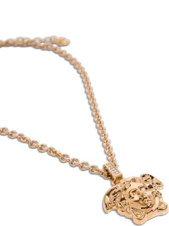 Versace Necklace Medusa 35mm Verniciato + Strass