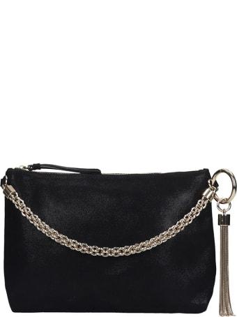 Jimmy Choo Callie  Clutch In Black Leather