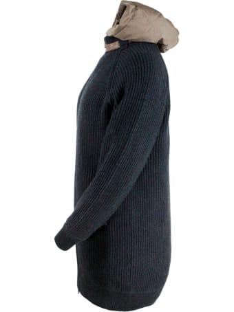 Brunello Cucinelli Cashmere Outerware + Down Vest Inside
