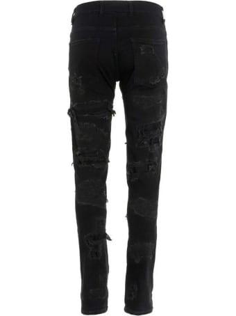 REPRESENT Black Stretch-cotton Jeans