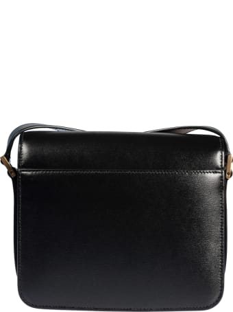 Saint Laurent Embossed Logo Shoulder Bag
