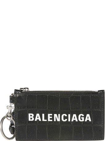 Balenciaga Embossed Croc Skin Effect Card Holder