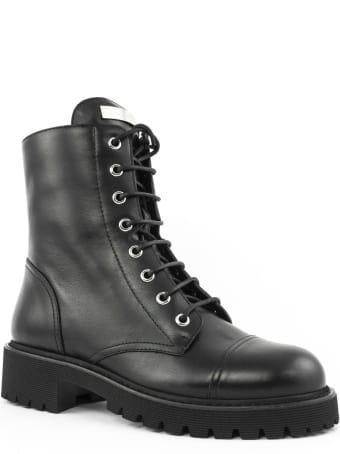 Giuseppe Zanotti Black Leather Biker Boots