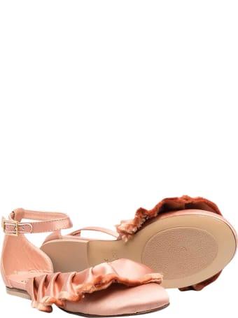 Elisabetta Franchi La Mia Bambina Ballet Flats With Ruffles Elisabetta Franchi My Child