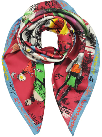 Christian Lacroix 20 Ans Printed Silk Scarf