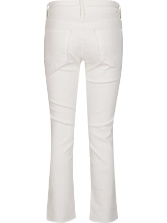 Mother White Cotton Blend Jeans