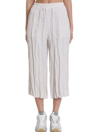 Acne Studios Parisa Pants In Beige Cotton