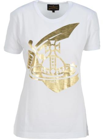 Vivienne Westwood Anglomania Anglomania Metallic Printed Logo T-shirt