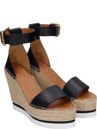 See by Chloé Wedges In Black Leather