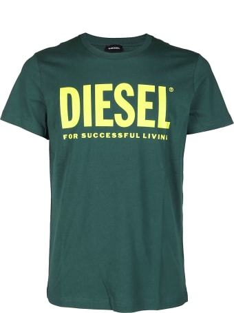 Diesel Green Cotton T-shirt