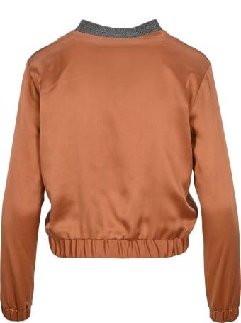 Fabiana Filippi Black Label Silk Bomber Jacket