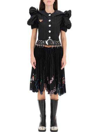 Chopova Lowena Midi Dress With Avalanche Embroidery
