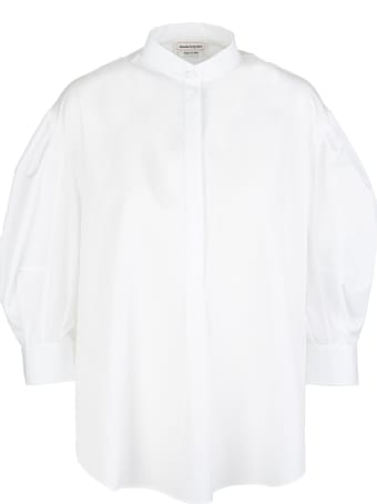 Alexander McQueen Woman White Cotton Poplin Shirt