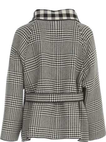 Emporio Armani Checked Caban Coat