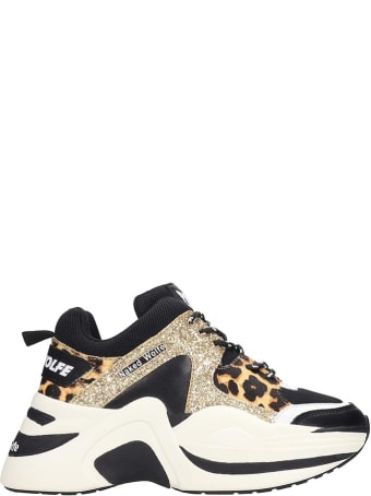 Naked Wolfe Track Sneakers In Gold Tech/synthetic