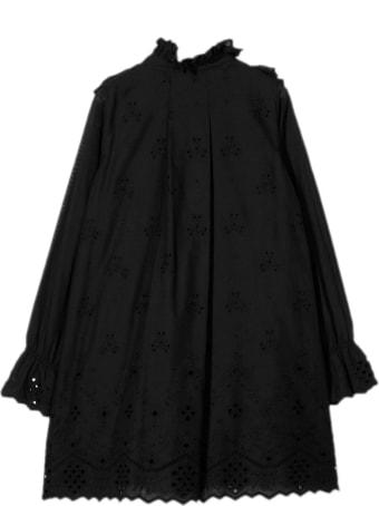 Alberta Ferretti Black Cotton Shift Dress