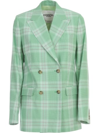 Essentiel Antwerp Vaneyck Double Breasted Checked Blazer