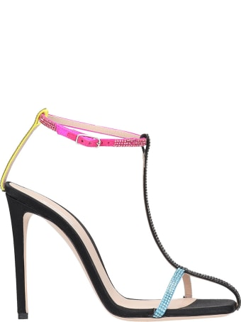 Sebastian Milano Sandals In Multicolor Leather