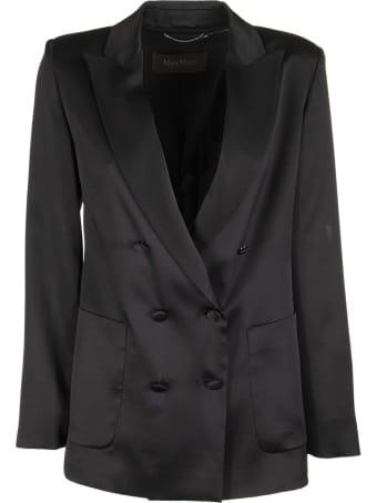 Max Mara Glauco Double Breasted Silk Jacket