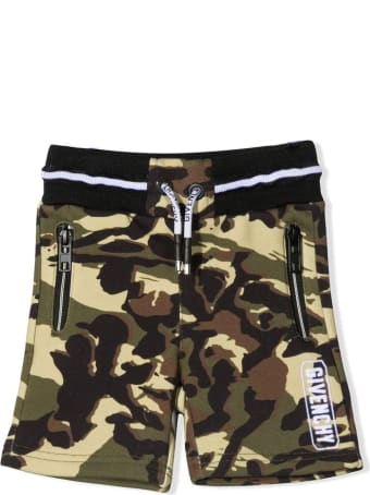 Givenchy Camouflage-print Cotton-blend Track Shorts