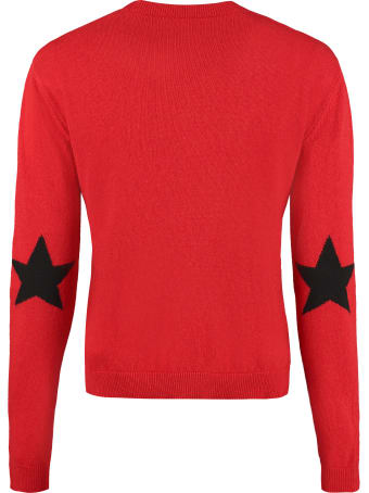 RED Valentino Intarsia Crew-neck Sweater