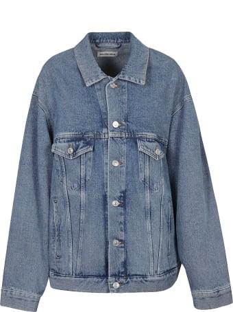 Balenciaga Denim Oversized Buttoned Jacket