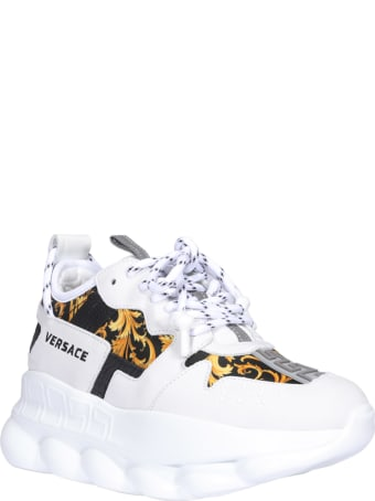 Versace Baroque Print Chain Reaction 2 Sneakers
