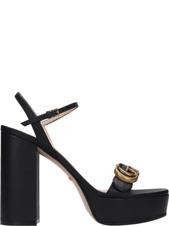 Gucci Sandals In Black Leather