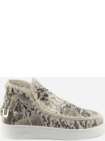 Mou Eskimo Sneaker Ankle Boots With Python Effect