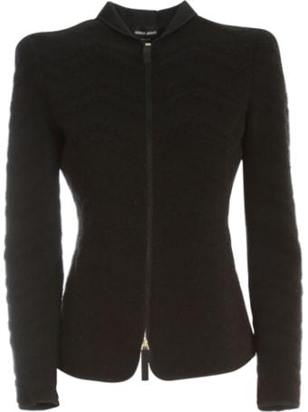 Giorgio Armani Jacquard Zip Jacket