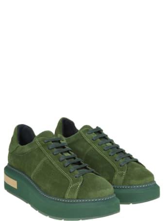 Manuel Barcelò Manuel Barcelo 'sneakers In Suede Green Color