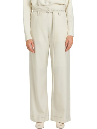 Marni Wide Leg Pants With Contasting Stitching