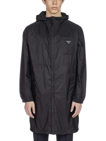 Prada Logo-plaque Re-nylon Hooded Raincoat