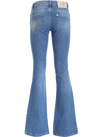 Blumarine Blue Stretch Cotton Jeans