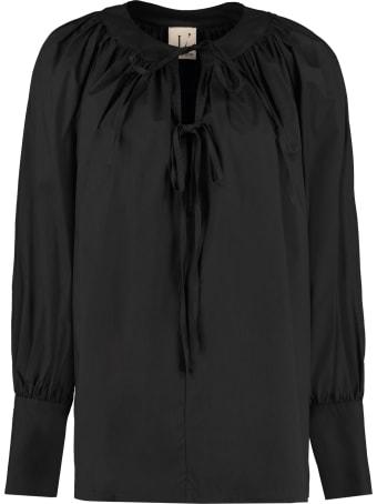 L'Autre Chose Blouse With Neckline Ruffles