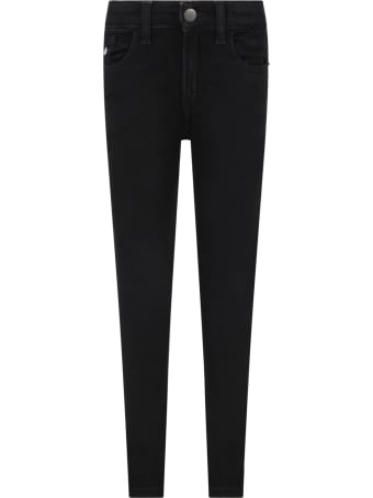 Calvin Klein Black Jeans For Boy With Logo