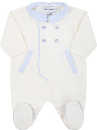 Armani Collezioni Ivory Babygrow For Baby