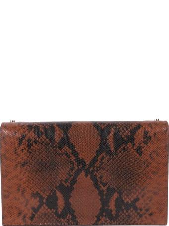 Jimmy Choo Brown Snake Lizzie Clutch Bag