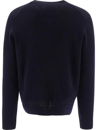 Ami Alexandre Mattiussi Blue Merino Wool Sweater