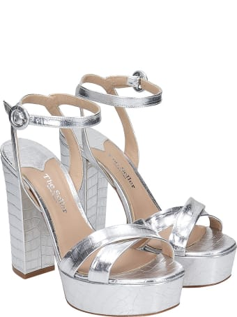 The Seller Sandals In Silver Leather
