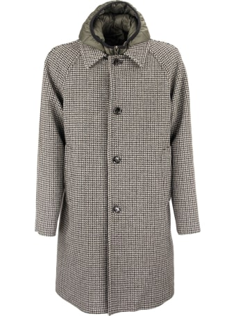 Paltò Marcello Wool Coat With Pied De Poule Pattern