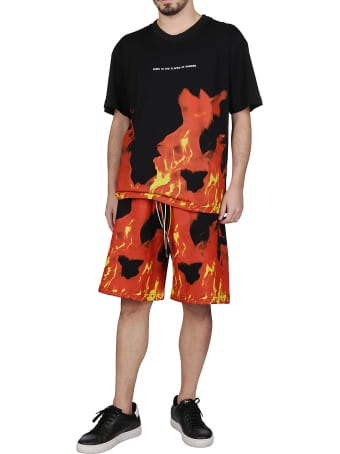 Ihs Black And Red Cotton Shorts