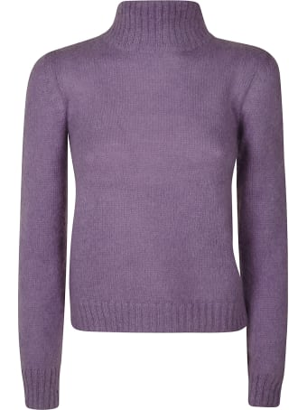 Alberta Ferretti Ribbed Neck Sweater