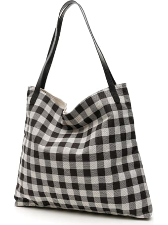 Mansur Gavriel Check Canvas Tote Bag