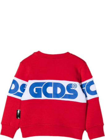 GCDS Red Cotton Sweatshirt