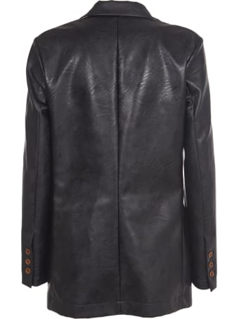 Jejia Black Faux Leather Blazer