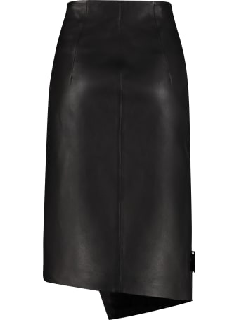 Off-White Leather Pencil Skirt